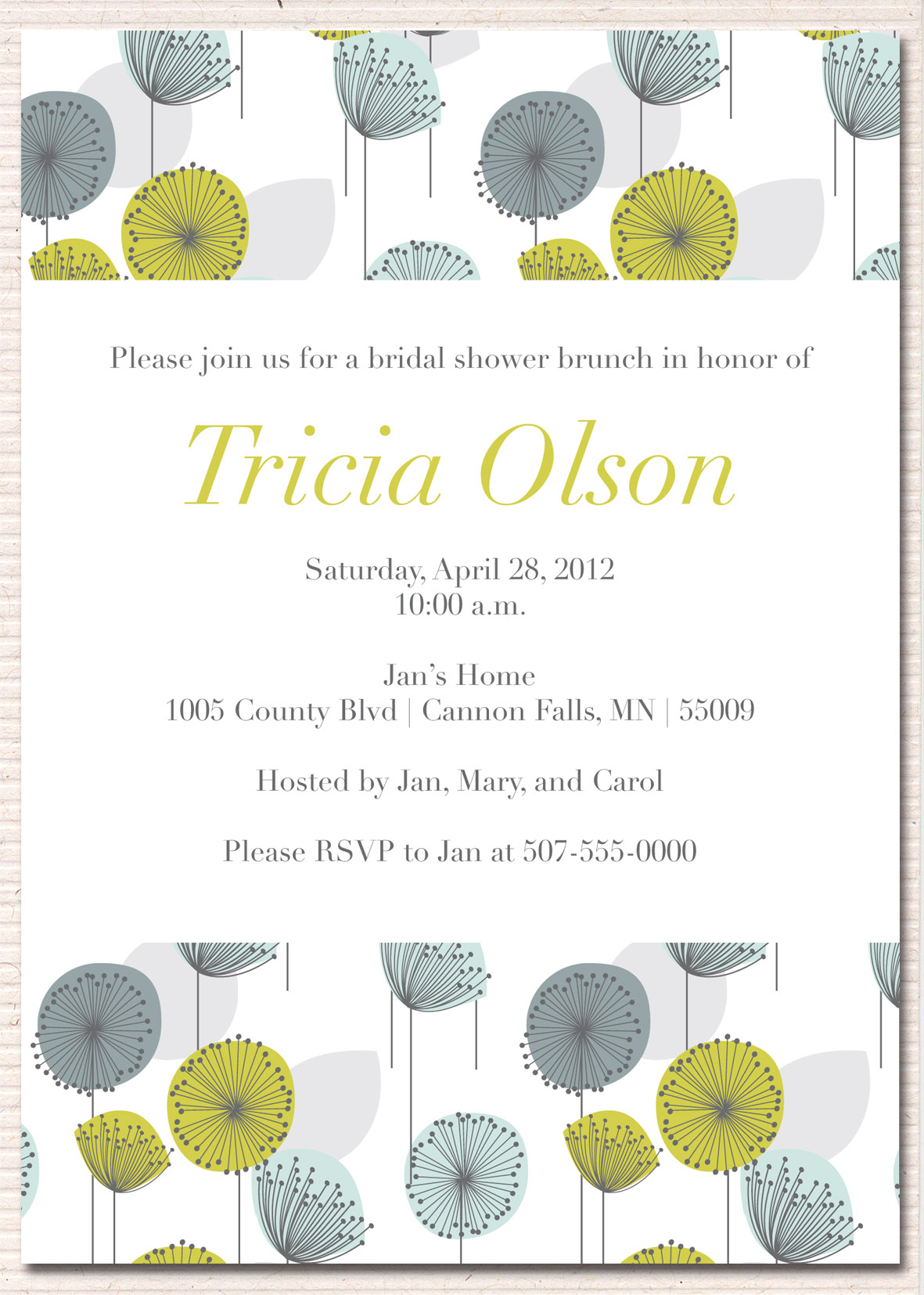 Bridal Shower Invitations: Bridal Shower Invitations For Brunch