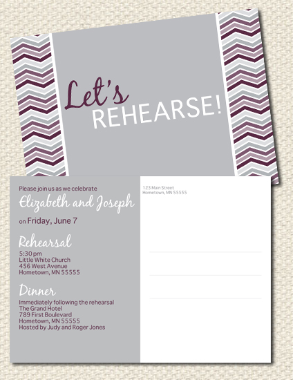 Rehearsal Dinner Invites