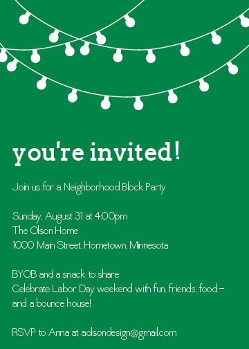 Block Party Invite